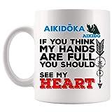 TKMSH Meaningful Gift For Men Women Aikido Aikidoka My Heart Are Full Instructor Gift Mug...