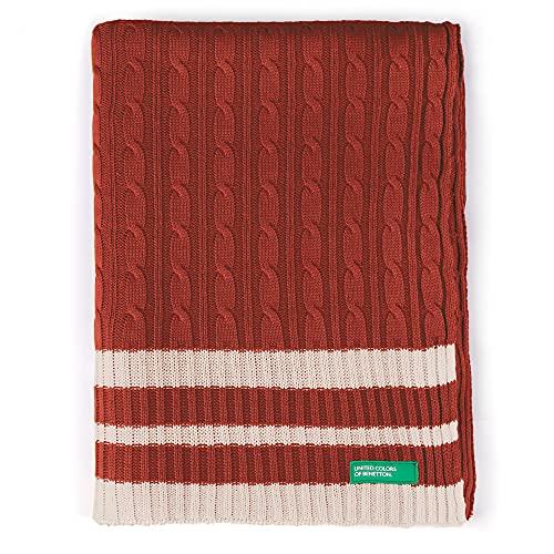 Manta 140X190 cm 200Gsm 100% Algodón De Punto Rojo Rainbow