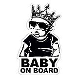 Baby on Board Aufkleber 18x11cm Auto Sticker -Finest Folia Autoaufkleber
