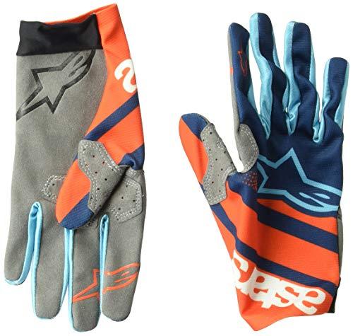 Alpinestars Racer, Guanti Uomo, Arancione energetico/Blu Poseidon, S
