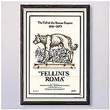 Fellinrs Roma Vintage clásico película cubierta cartel pared arte impresión lienzo sala de estar decoración del hogar regalo-50X70Cm sin marco