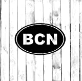 Calcomanía de Barcelona – BCN Oval – Di-cut – Calcomanía para coche, camión, hogar, ordenador portátil, ordenador, teléfono
