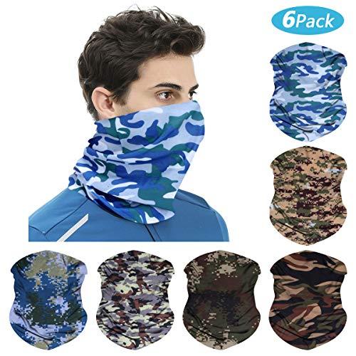 ECOMBOS Multifunktionstuch Vielseitig Einsetzbar Motorrad Kopfbedeckung Sporttuch Headwrap Bandana Stirnband Schweißband Halstuch Motorrad Wandern Ski Outdoor