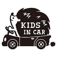 imoninn KIDS in car ステッカー 【パッケージ版】 No.37 ハリネズミさん (黒色)