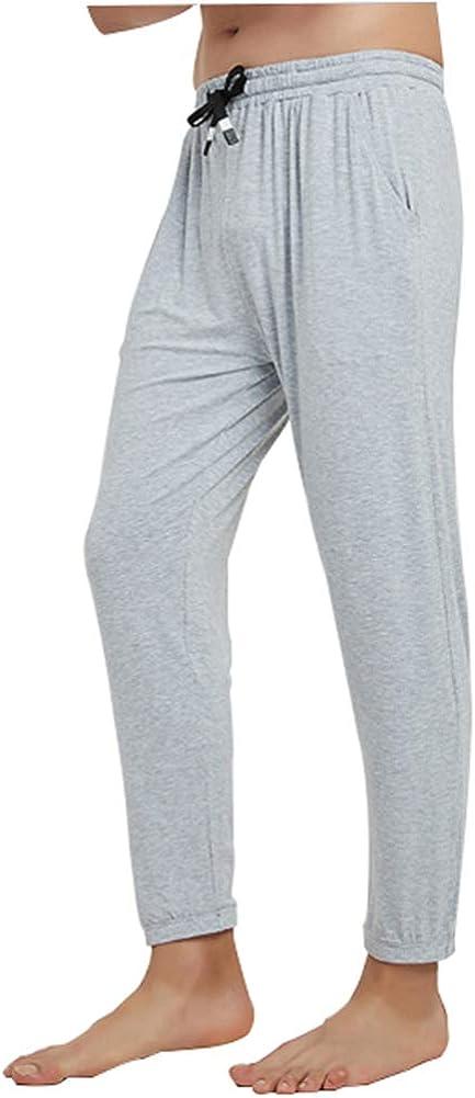 Men's Light Weight Thermals Pants Underwear Soft Long Johns Thin Pyjama Trousers 02Light Grey 2XL