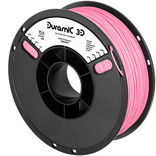 DURAMIC 3D PLA Filament 1.75mm Pink, 3D Printing Filament with Build Surface 7.87 x7.87in, 1kg Spool(2.2lbs), No-Tangling Dimensional Accuracy +/- 0.05 mm, Consistent Performance for 3D Printer
