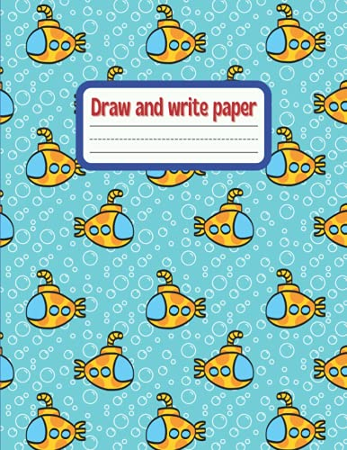 Draw and write paper for kids blank dotted lined notebooks: Primary story journal grades k-2. Early Creative Story Book for Kids. Draw and write ... Large 8.5'' x 11'' size, 114 White Pages
