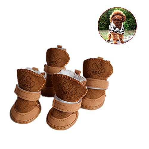 Amphia - Kaschmir-Schneeschuhe, Baumwollschuhe, Hundeschuhe,Welpen Baumwollmischung Winter Schnee Warme Wanderschuhe Cute Fancy Dress up Pet Dog