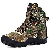 XPETI Scarponi da Alpinismo, Uomo Impermeabili Scarpe da Trekking Mid Montagna Calzature Escursionismo Trail per Camminare Leggere Professionali Invernali Camouflage 42.5