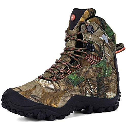 XPETI Scarponi Trekking, Uomo Impermeabili Scarpe Mid Montagna Calzature Escursionismo Trail per Camminare Leggere Professionali Caccia Sportive Invernali Camouflage 42