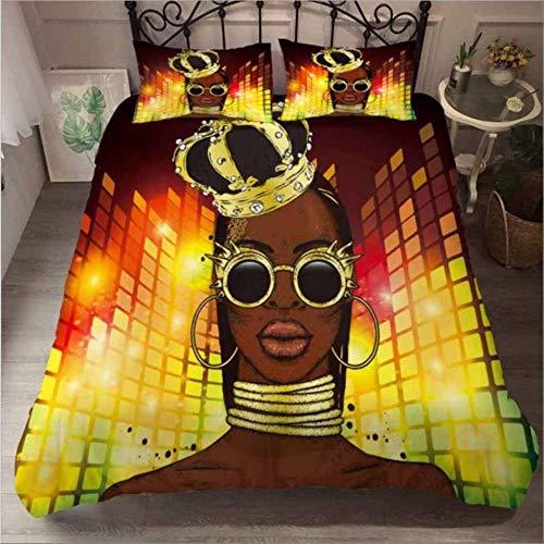 3d Bedding Sets King Size Duvet Cover And Pillowcase Home Textiles Euro Bedding Set African Women Bedclothes Linens
