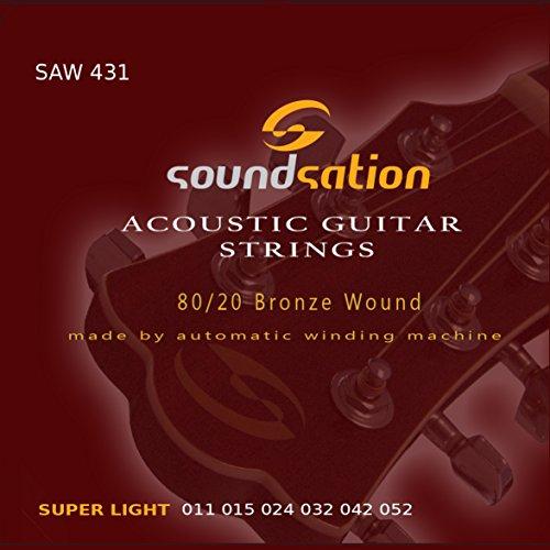 5 cajas de juegos cuerdas guitarra acustica SOUNDSATION SAW 431 (011-052)