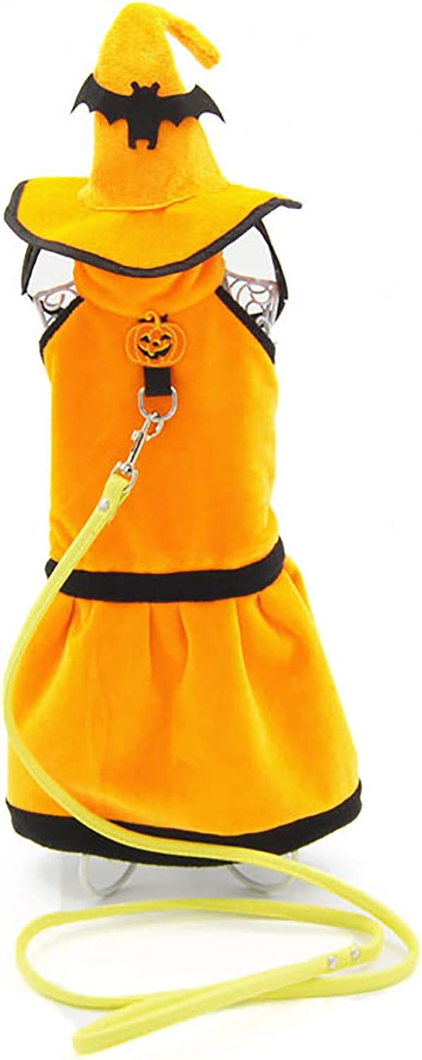 Shangyuan Pet Halloween Costume Thick Textile Brushed Material Durable Easy to Clean Autumn and Winter Funny Hat Costume