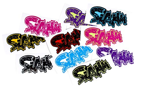Slamm Scooters Slamm Sticker Pack (50 stickers) Sticker, Unisex Volwassen, Flat, One Size