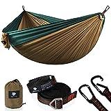 Anyoo - Hamaca de Doble Camping Ligera portátil de Nailon con Correas para el árbol para mochilero, Senderismo, Viajes, jardín