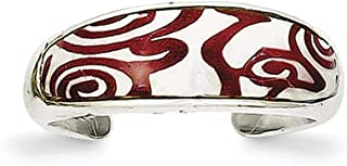 Lex & Lu Sterling Silver Enameled Toe Ring