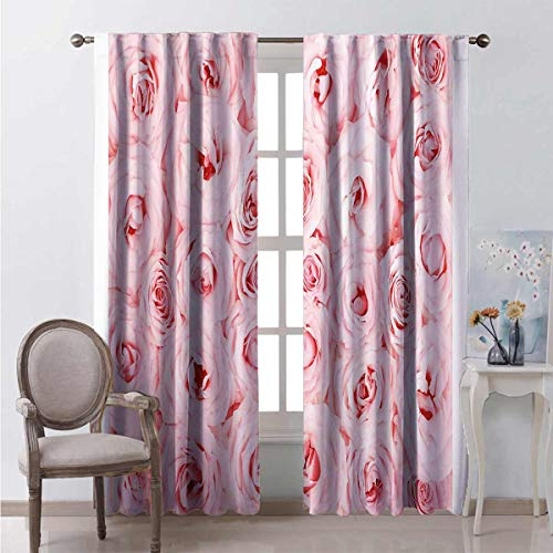 99% blackout curtains Fresh Garden Yard For bedroom kindergarten living room W84 x L84 Inch