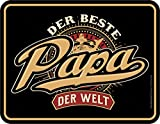 RAHMENLOS Original Blechschild für den besten Papa der Welt