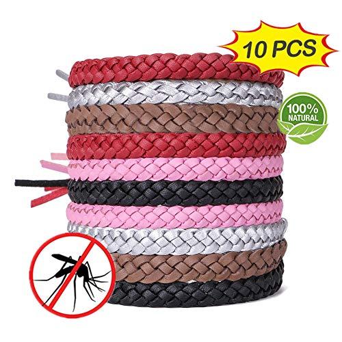 ACTOPP Mückenschutz Armband Moskito Armband 10 Stück Repellent Armbänder Insektenschutz Naturals Mücken Armband Anti Mückenarmband Mücken Gürtel Schutz gegen Mücken Insekten