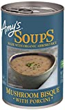 Amy's Mushroom Bisque with Porcini Soup, Gluten Free, 14-Oz - 12 count
