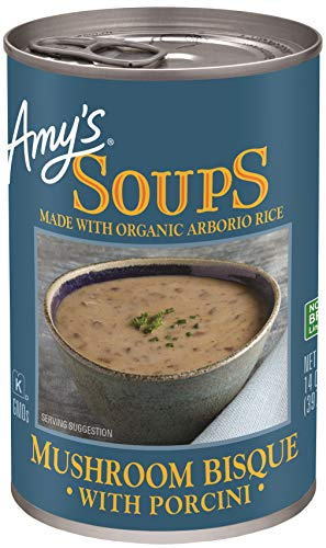 Amy's Soup, Gluten Free, Mushroom Bisque with Porcini, 14 oz