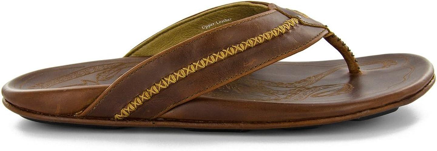 OluKai Men's MEA Ola Sandals, Ginger Ginger, 9