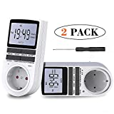 BMK Zeitschaltuhr, Zeitschaltuhr Digital Elektrische Steckdose 10 Programmierbarer EIN-AUS Timer Schalter mit Reset-Tool