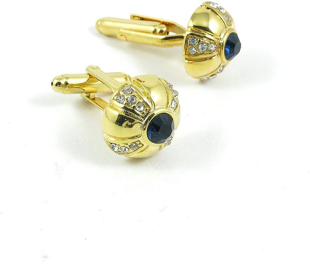 Cufflinks Cuff Links Fashion Mens Boys Jewelry Wedding Party Favors Gift UMN063 Black Crystal Zircon Golden