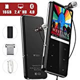 Lecteur MP3 Bluetooth 4.0, 16Go MP4 Bluetooth 2.4'' TFT Ecran Portable Baladeur MP3...