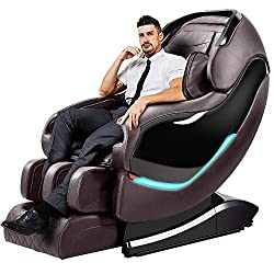 Massage Chair, Zero Gravity Full Body Massage Chairs Recliner with SL Double Track, 3D Robot Hands, Air Massage, Bluetooth Speaker & Yoga Stretching