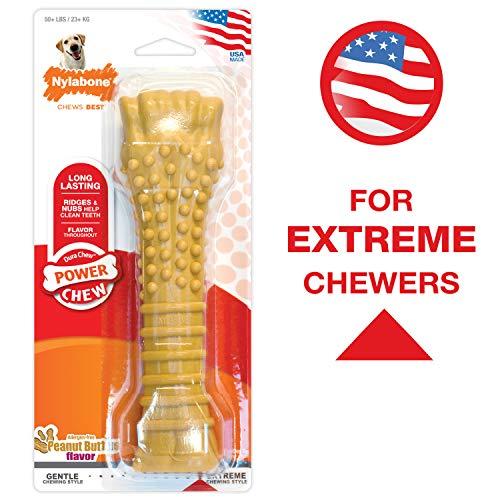 Nylabone Dura Chew Textured Toy, X-Large - Peanut Butter Flavored Bone ( Standard Packaging )