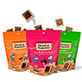 Michel et Augustin Gourmet Chocolate Cookie Squares   Individually Wrapped Valentine Gifts Cookies   3-Bag Variety Pack   15 French Shortbread Cookies per Bag