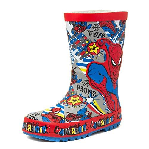 Spiderman Eagle Kids - Stivali di gomma multicolore, Rosso (Rosso), 31 EU