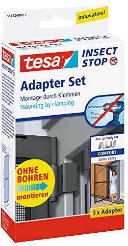 tesa Fliegengitter Adapter-Set für ALU-Türen, anthrazit