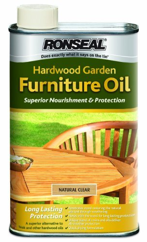 Ronseal HFONO1L 1L Hardwood Furniture Oil - Natural Oak by Ronseal