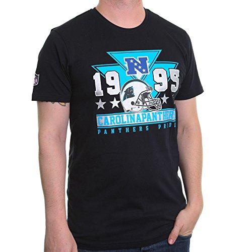 New Era Herren T-Shirt NFL Triangle Tee Carolina Panthers, kurzärmelig M Schwarz