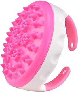 Healifty セルライトブラシボディマッサージスカラセルライトマッサージ頭皮ケアヘアブラシ(バラ色)