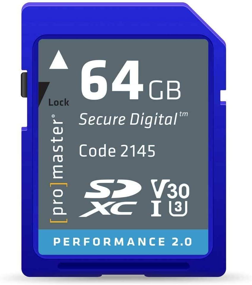 Promaster 64GB SDHC Class 10 Memory Card (Performance 2.0)