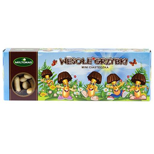 Fröhliche Pilze - Mini Keks 170g Miltonas I Polnisches Gebäck & Knabberei