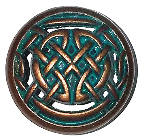 Set of 6 Timeless Celtic Knot Drawer Knobs in Copper Patina
