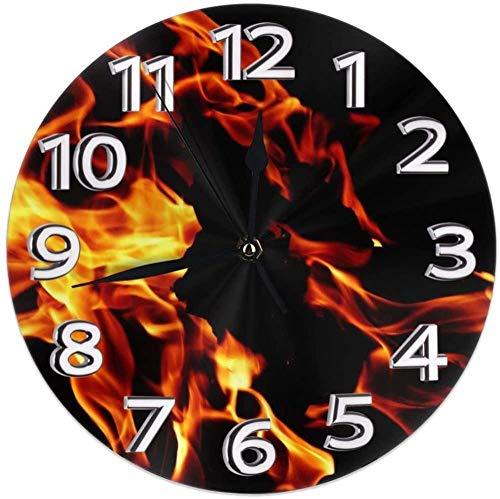 AZHOULIULIU Co.,ltd Los Relojes de Escritorio del Fuego de la Llama Decorativos para la guarida de la Escuela Moderna exacta