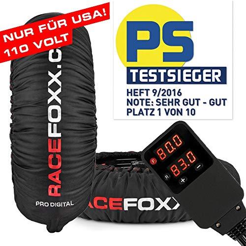 Chauffe-pneus Tire Warmers Racefoxx Pro Digital jusqu'à 99° - Superbike - Version américaine 110 V - Pour pneus de moto, course