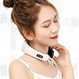 Greatlong Electric Pulse Neck Massager, Cervical Vertebra Treatment Instrument, Therapy Neck Pillow Massager,Physiotherapeutic Acupuncture Magnetic Relief Pain Tool