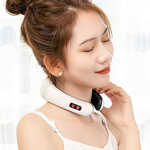 MAGLONG Electric Pulse Neck Massager, Smart Neck Pillow Massager, Physiotherapeutic Acupuncture Magnetic Relief Pain Tool