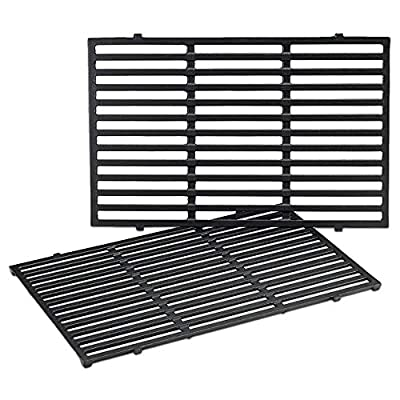 QuliMetal 7524 19.5 Inches Cast Iron Cooking Grid Grates for Weber Genesis E-310/ E-320/ E-330, Genesis S-310/ S-320/ S-330, Genesis EP-310/ EP-320 Gas Grill, Replaces for Weber 7524/7528
