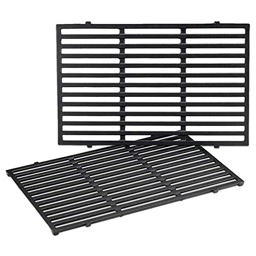 QuliMetal 7524 19.5 Inches Cast Iron Cooking Grid Grates for Weber Genesis E-310/ E-320/ E-330,...