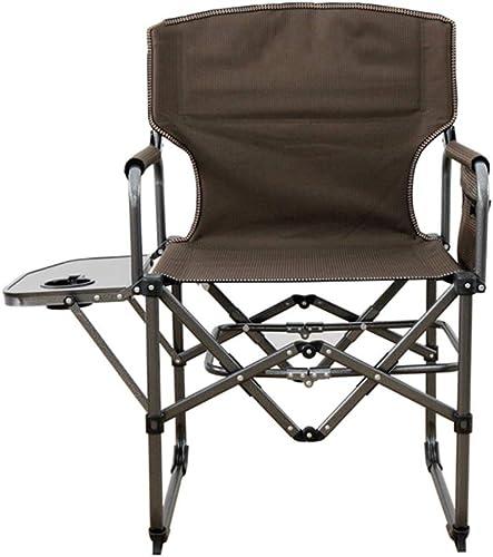 Chaises Pliantes Chaise Pliante de Chaise de Camping Portable Barbecue Adulte de Plage de pêche Barbecue, Portant 100kg marron