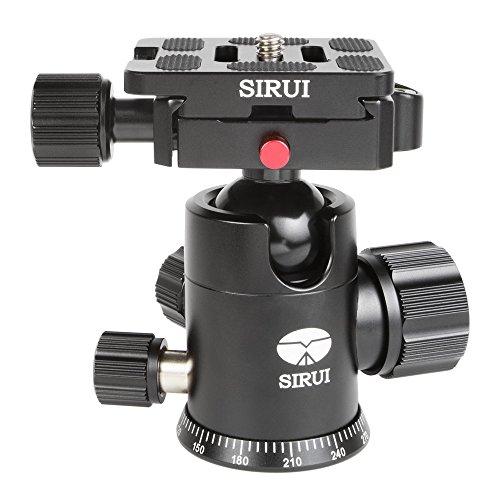 SIRUI G-10X Stativkugelkopf (Alu, Höhe: 88mm, Gewicht: 0.3kg, Belastbarkeit: 18kg) schwarz mit Wechselplatte TY-50X