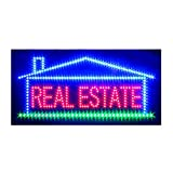 Real Estate Open Sign for Business, Super Bright Electric Advertising Display Board for Broker Realtor Properties Business Shop Store Window Home Bedroom Decor (HSR0087)