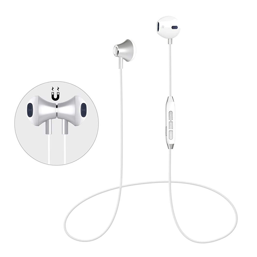 Pandawill Bluetooth Headphones, Magnetic Bluetooth Headphones, Wireless Sports Earphones Bluetooth Earbuds Compatible for Samsung Galaxy S8 Note 8 Bluetooth Enabled Devices